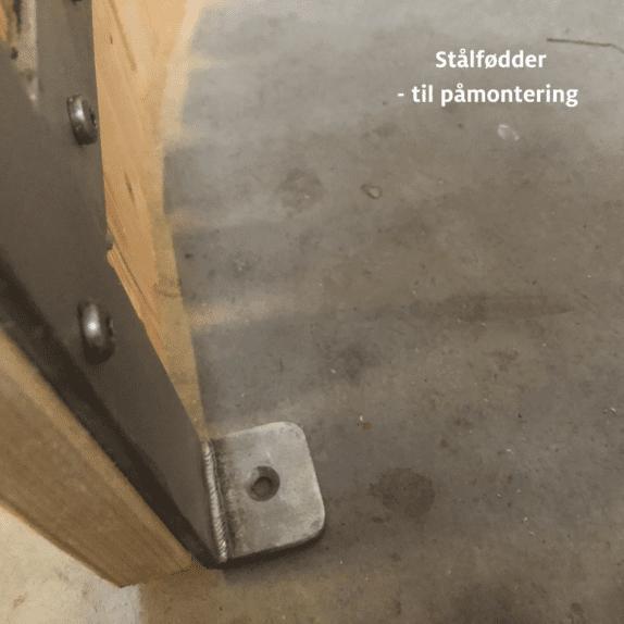 Stålfødder til påmontering af bund